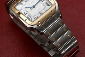 New Year Special Replica Cartier Santos White Dial Automatic Two-tone Steel Watch Review