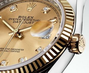 9c72dd2b489 Classic   Elegance Replica Rolex Oyster Perpetual Datejust 36mm 18 ct  Yellow Gold Watch Review