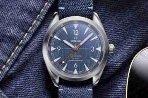 New Omega Railmaster Co-Axial Master Chronometer Denim-Style Dial Stainless Steel 40mm Replica Watch Review