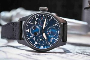 SIHH 2019 Swiss IWC Big Pilot's Watch Perpetual Calendar Edition Black Blue Rodeo Drive IW503001 Replica Review