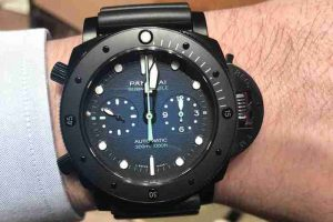SIHH Swiss Officine Panerai Submersible Chrono Guillaume Néry Edition 47mm PAM00983 Replica Watches Review
