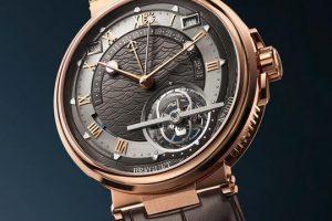 Replica Breguet Marine Tourbillon Perpetual Calendar Équation Marchante Gold Dial 5887