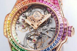 Replica Hublot Big Bang Integral Automatic Tourbillon Rainbow 18K Gold Watches Review 3