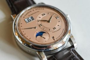 Limited Edition Replica A. Lange & Söhne Lange 1 Perpetual Calendar Salmon White Gold Watch 3
